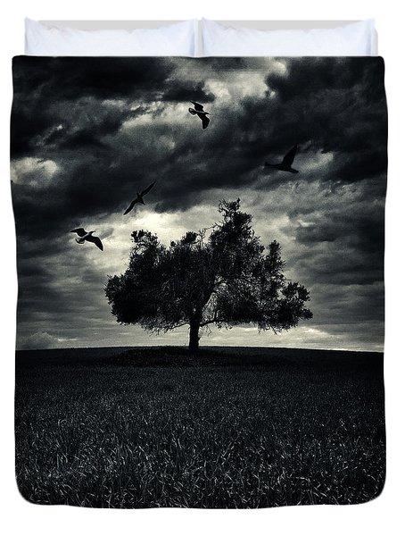 My Friends Duvet Cover by Stelios Kleanthous