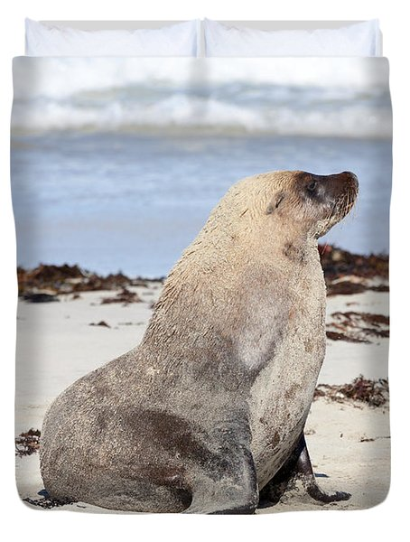 My Good Side Duvet Cover by Mike Dawson