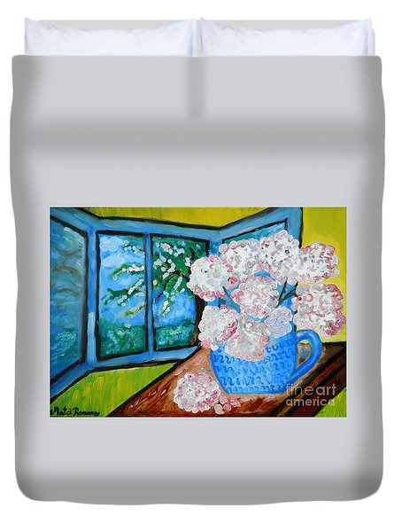 My Grandma S Flowers   Duvet Cover