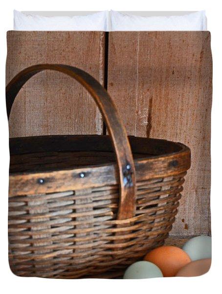 My Grandma's Egg Basket Duvet Cover
