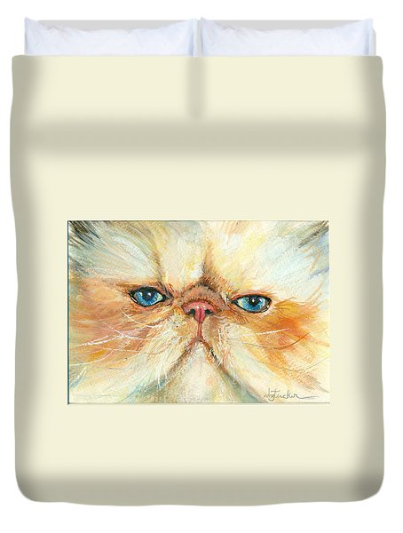 My Happy Face Duvet Cover by Donna Tucker