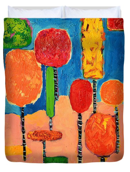 My Happy Trees 2 Duvet Cover by Ana Maria Edulescu