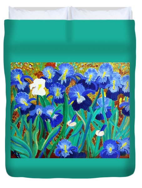 My Iris - Inspired  By Vangogh Duvet Cover