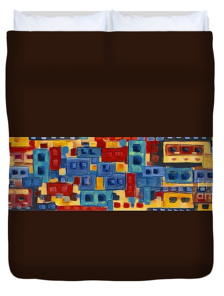 Duvet Cover featuring the painting My Jazz N Blues 2 by Holly Carmichael