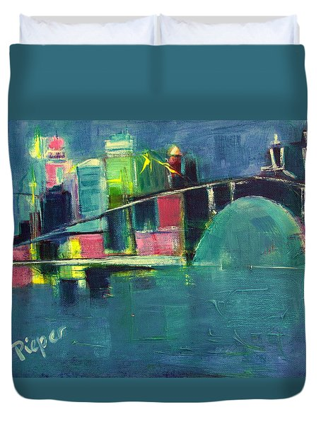 My Kind Of City Duvet Cover by Betty Pieper