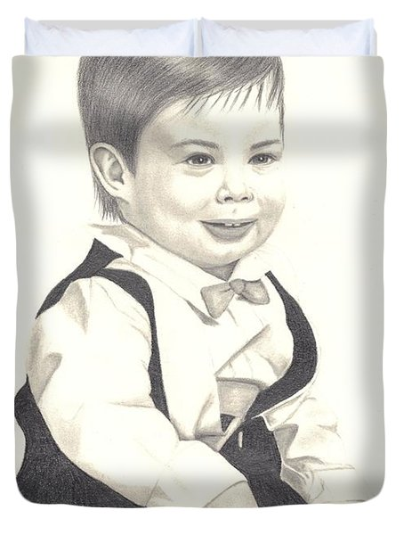 My Little Boy Duvet Cover by Patricia Hiltz