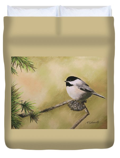 My Little Chickadee Duvet Cover