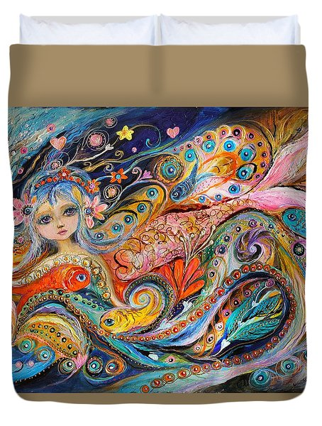 My Little Mermaid Lucille Duvet Cover by Elena Kotliarker