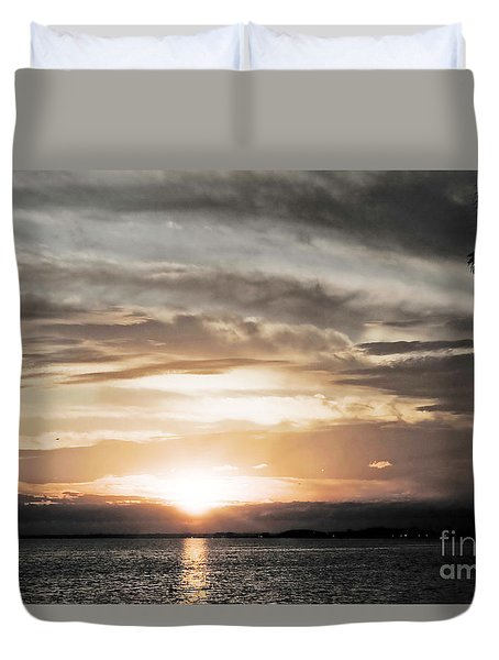 Duvet Cover featuring the photograph My Love Song by Janie Johnson