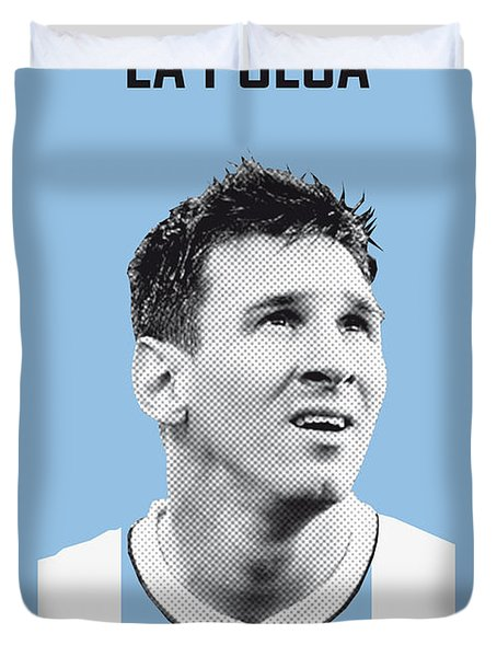 My Messi Soccer Legend Poster Duvet Cover