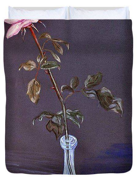 My Mothers Rose Duvet Cover by Nina Ficur Feenan