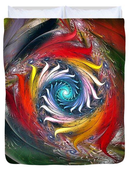 My My Beautiful Laundrette-fractal Art Duvet Cover