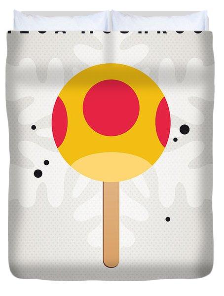 My Nintendo Ice Pop - Mega Mushroom Duvet Cover by Chungkong Art