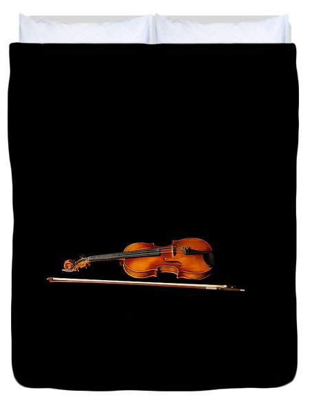 My Old Fiddle And Bow Duvet Cover