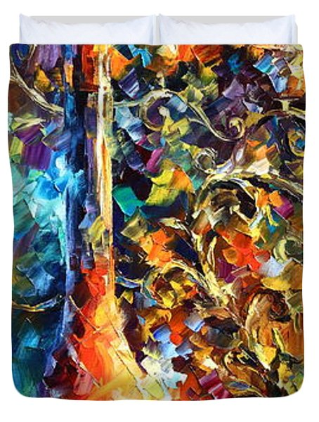 My Old Thoughts 2 Duvet Cover by Leonid Afremov