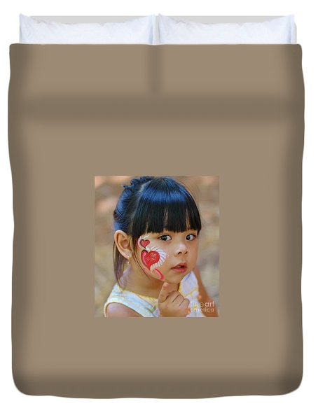 My Painted Face Duvet Cover by Kathleen Struckle