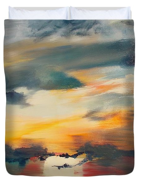My Paradise Sunrise Duvet Cover by PainterArtist FIN