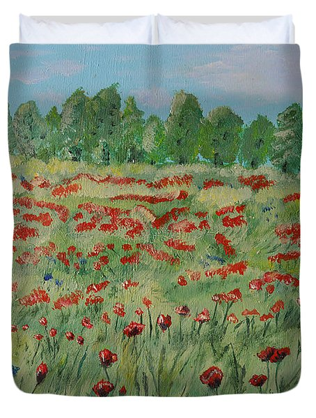 My Poppies Field Duvet Cover
