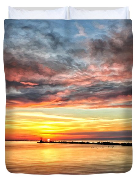 My Return To Cape Charles Virginia Duvet Cover