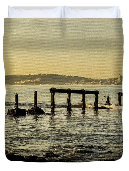 My Sea Of Ruins II Duvet Cover by Marco Oliveira