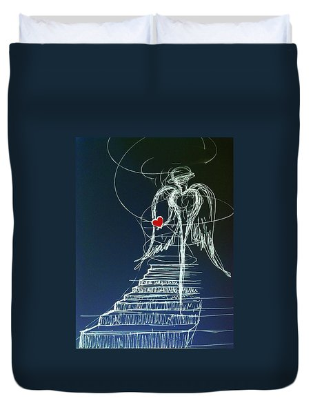 My Soul Awaits With Love At Hand Duvet Cover