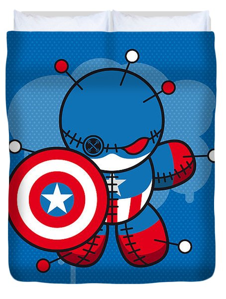 My Supercharged Voodoo Dolls Captain America Duvet Cover