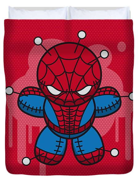 My Supercharged Voodoo Dolls Spiderman Duvet Cover