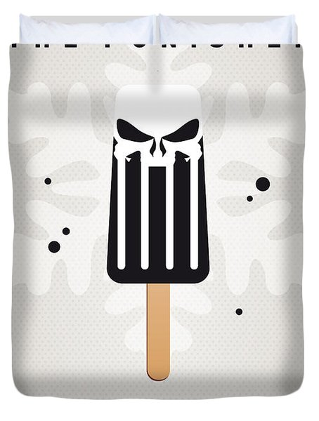 My Superhero Ice Pop - The Punisher Duvet Cover by Chungkong Art
