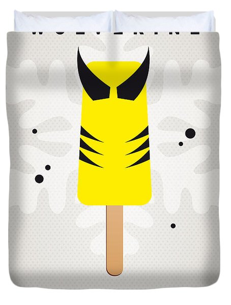 My Superhero Ice Pop - Wolverine Duvet Cover by Chungkong Art