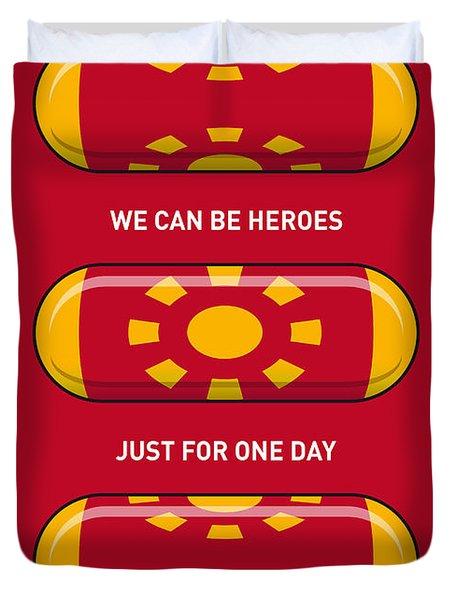 My Superhero Pills - Iron Man Duvet Cover by Chungkong Art