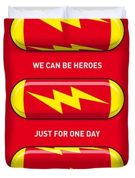 My Superhero Pills - The Flash Duvet Cover by Chungkong Art