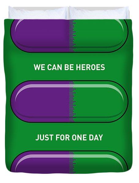 My Superhero Pills - The Hulk Duvet Cover