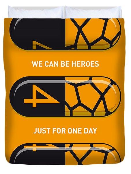 My Superhero Pills - The Thing Duvet Cover by Chungkong Art
