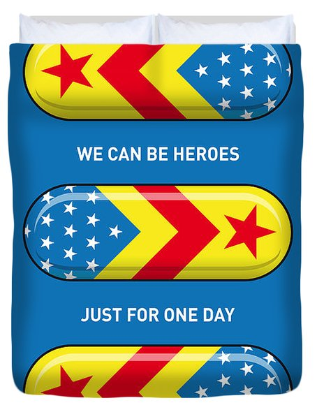 My Superhero Pills - Wonder Woman Duvet Cover