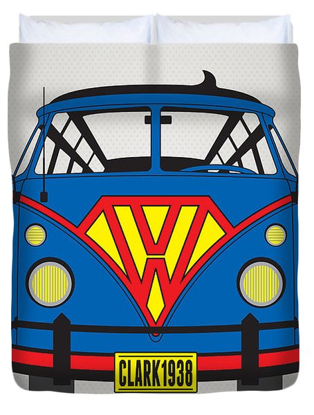 My Superhero-vw-t1-superman Duvet Cover