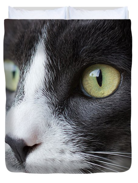 Duvet Cover featuring the photograph My Sweet Boy by Heidi Smith