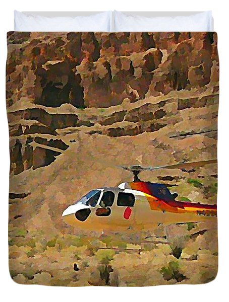 My Taxi To The Grand Canyon And Back Duvet Cover by John Malone