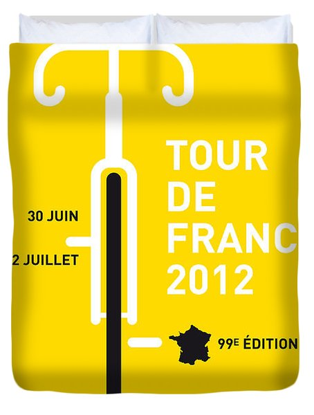 My Tour De France 2012 Minimal Poster Duvet Cover