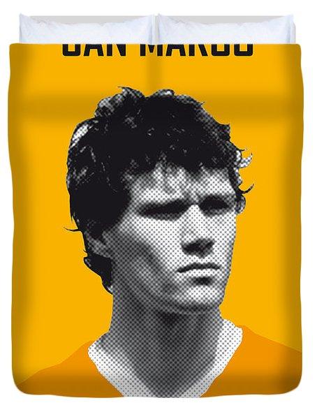 My Van Basten Soccer Legend Poster Duvet Cover by Chungkong Art