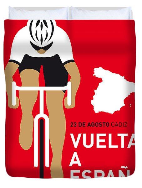 My Vuelta A Espana Minimal Poster 2014 Duvet Cover by Chungkong Art