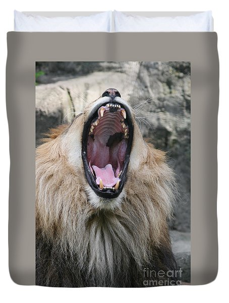 My What Big Teeth You Have Duvet Cover by Judy Whitton