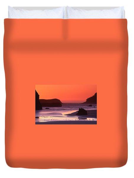 Myers Creek Sunset Duvet Cover