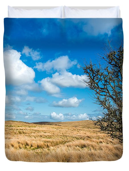 Duvet Cover featuring the photograph Mynydd Hiraethog by Adrian Evans