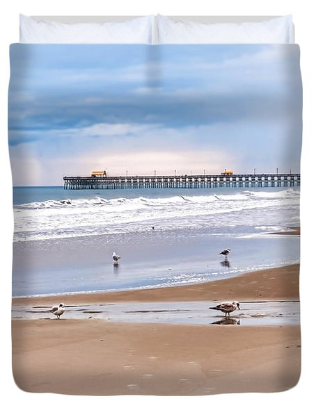 Myrtle Beach - Rainy Day Duvet Cover