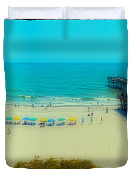 Duvet Cover featuring the photograph Myrtle Beach South Carolina by Alex Grichenko