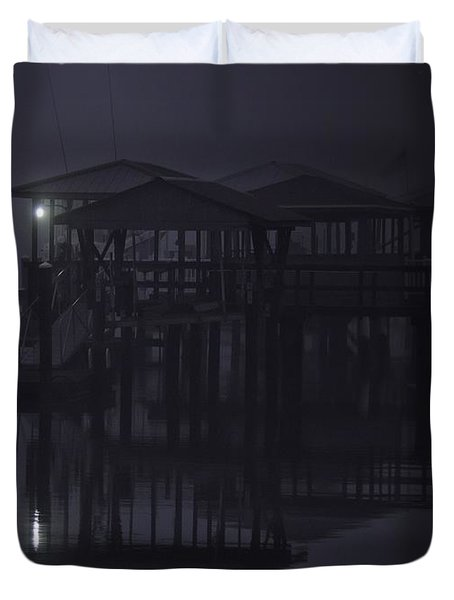 Duvet Cover featuring the photograph Mysterious Morning by Laura Ragland