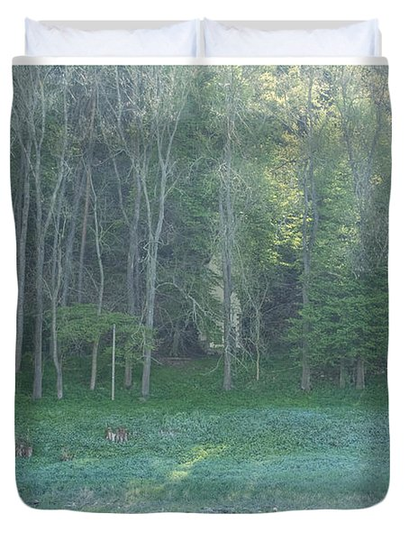 Mysterious Elbe Woods Duvet Cover