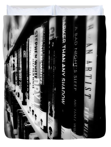 Duvet Cover featuring the photograph Mystery At The Library by Lucinda Walter