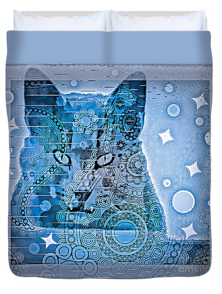 Mystery Cat  Duvet Cover