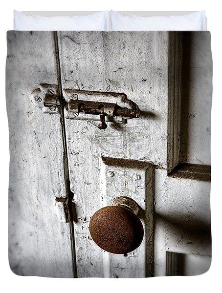 Mystery Door Duvet Cover by Caitlyn  Grasso